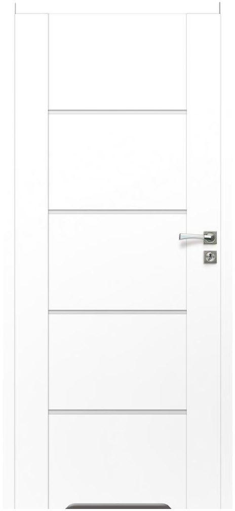 Skrzydło drzwiowe bezprzylgowe z podcięciem wentylacyjnym MALIBU White 70 Lewe ARTENS