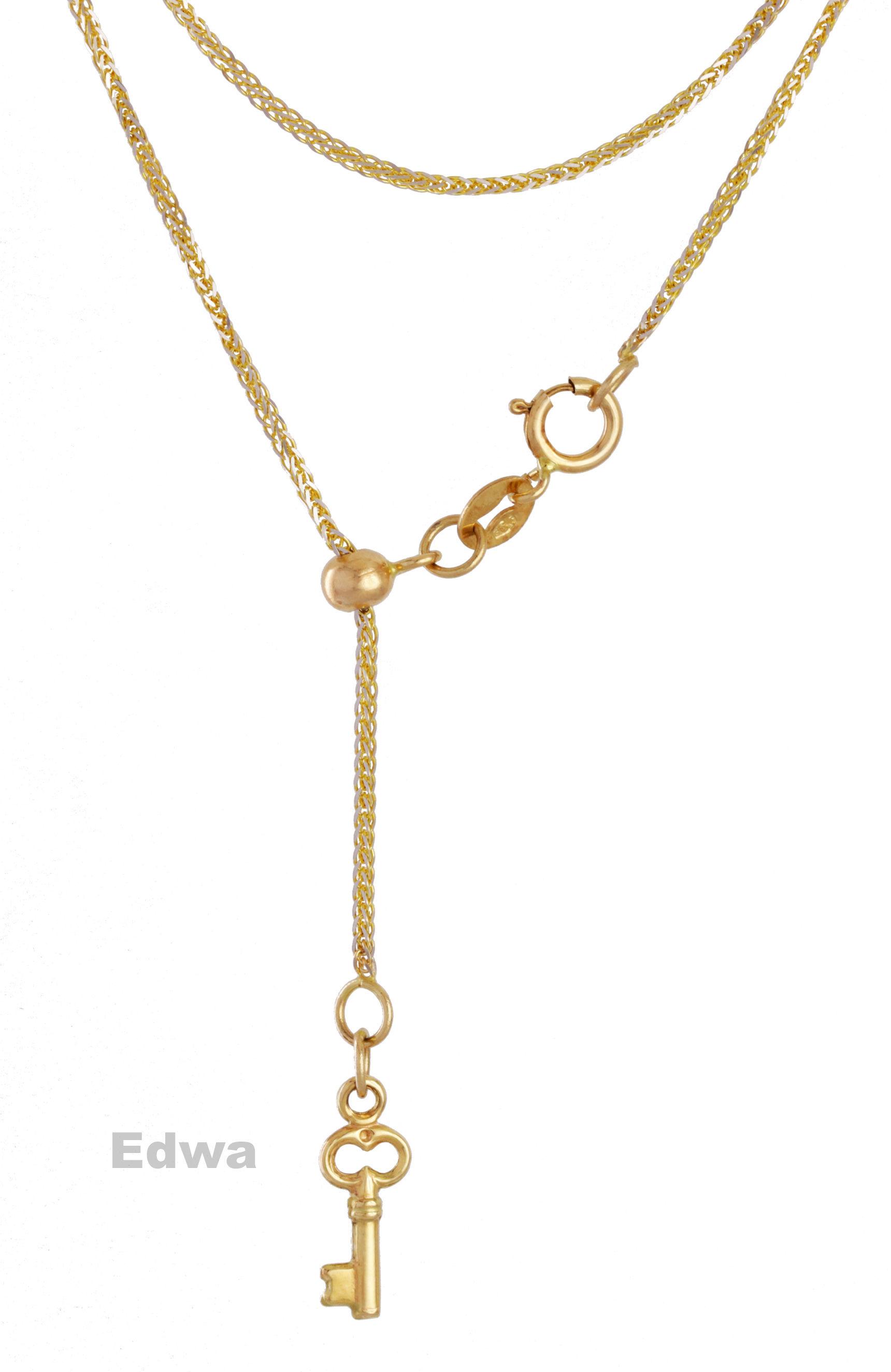 Łańcuszek złoty Krawat z Kluczem pr.585 42 cm