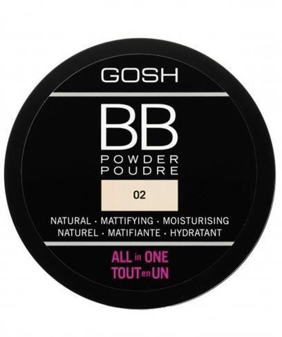 GOSH_BB Powder All In One prasowany puder do twarzy 02 Sand 6,5g