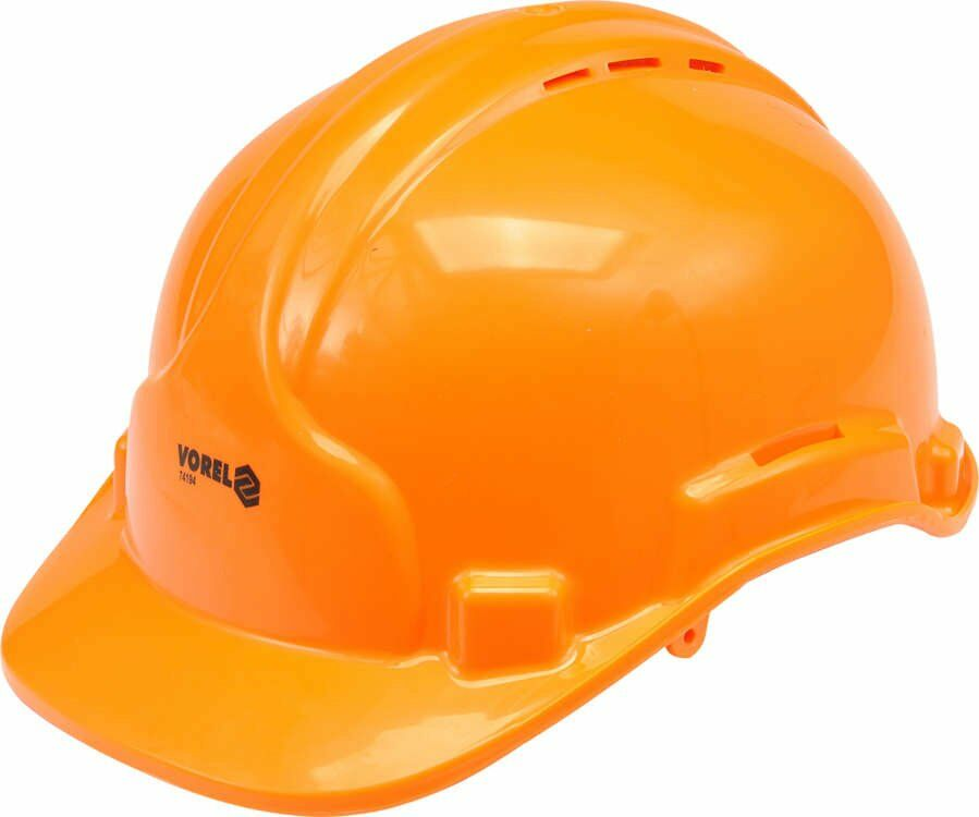 Kask ochronny pomarańczowy Vorel 74194 - ZYSKAJ RABAT 30 ZŁ