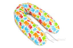 MAMO-TATO Poszewka na poduszkę dla kobiet w ciąży Słonie kolorowe