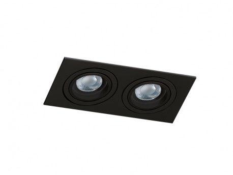 Oczko stropowe Caro 2 S AZ2437 AZzardo podwójna oprawa w kolorze czarnym