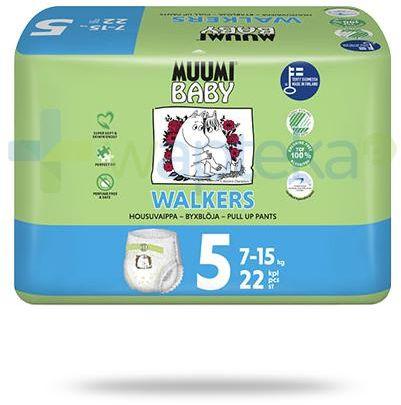 Muumi Baby 5 Walkers 7-15kg jednorazowe pieluchomajtki dla dzieci 22 sztuki
