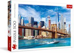 Trefl Widok na Nowy Jork Puzzle 500 Elementów o Wysokiej Jakości Nadruku dla Dorosłych i Dzieci od 10 lat