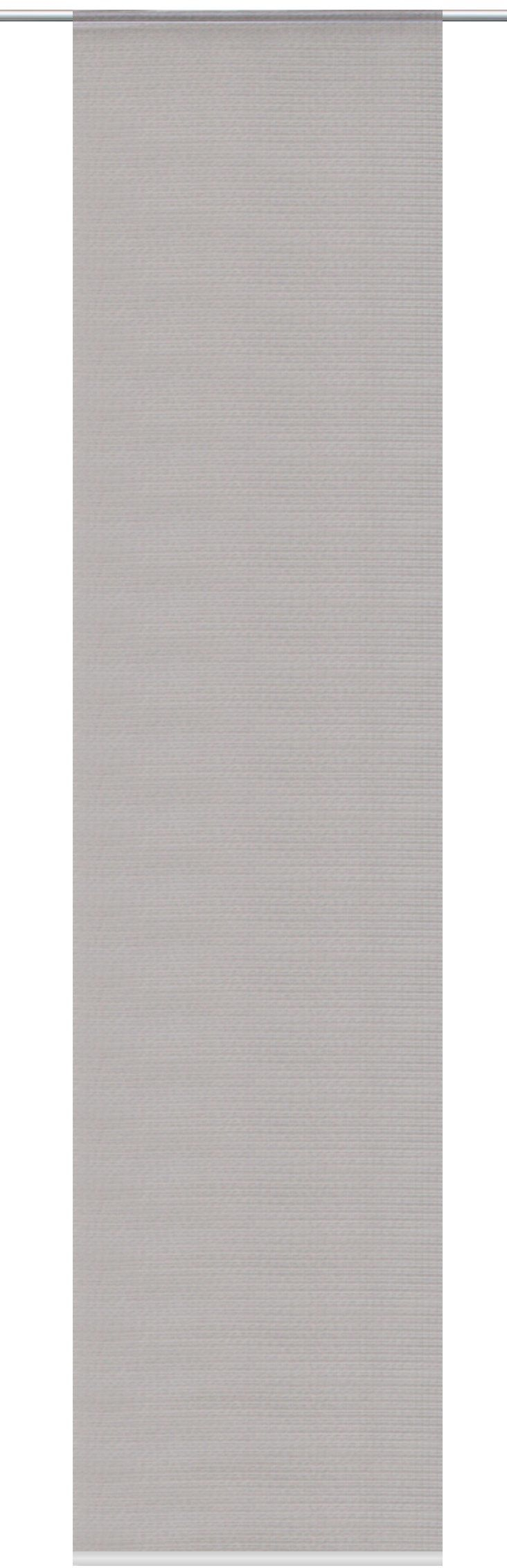 Home fashion zasłona przesuwna o wyglądzie bambusa, usztywniona, poliester, kamień, 245 x 60 cm
