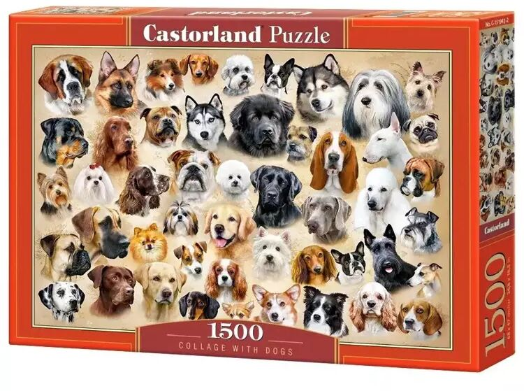 Puzzle 1500 Collage with Dogs CASTOR - Castorland