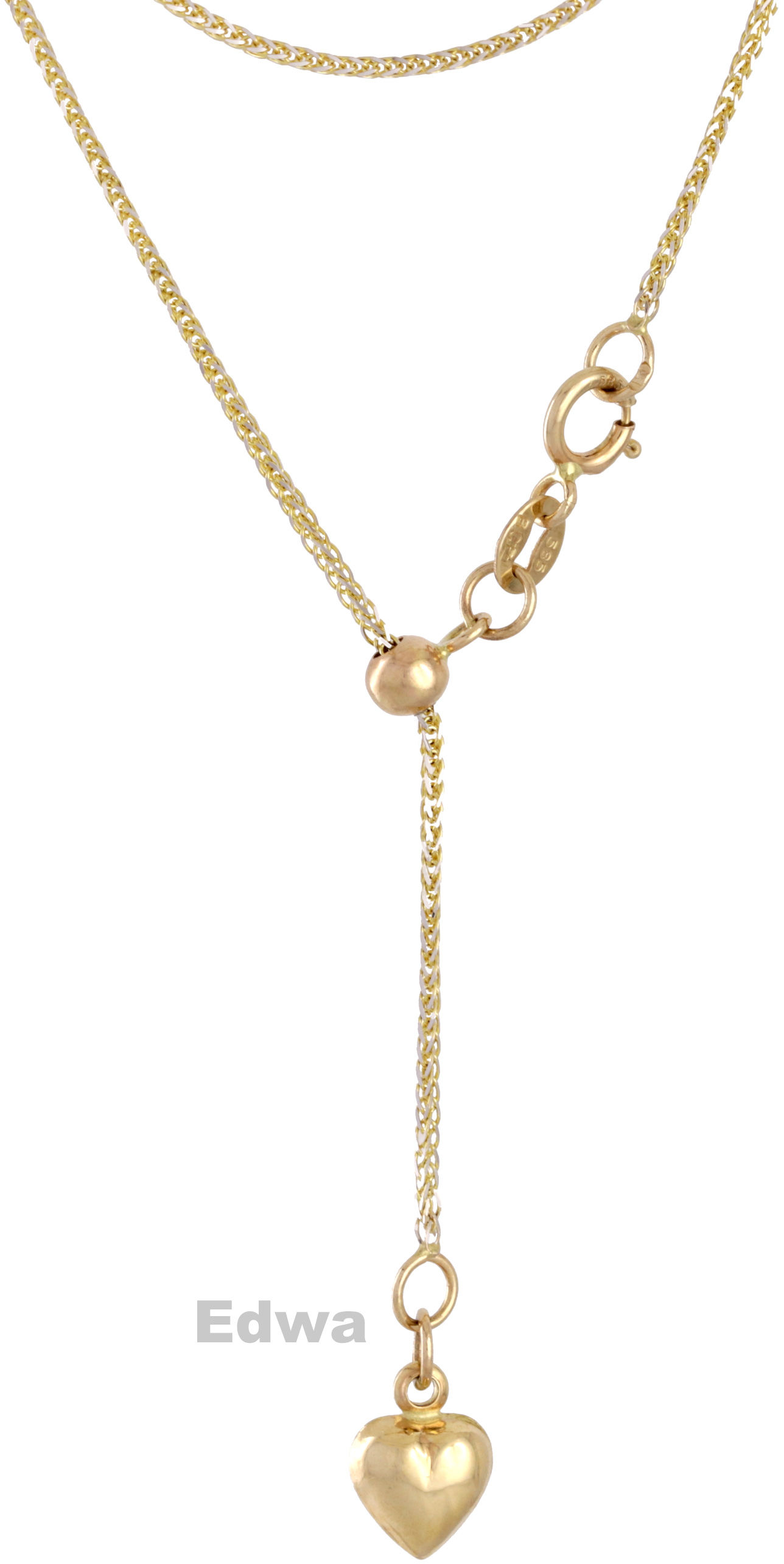 Łańcuszek złoty celebrytka z serduszkiem pr.585