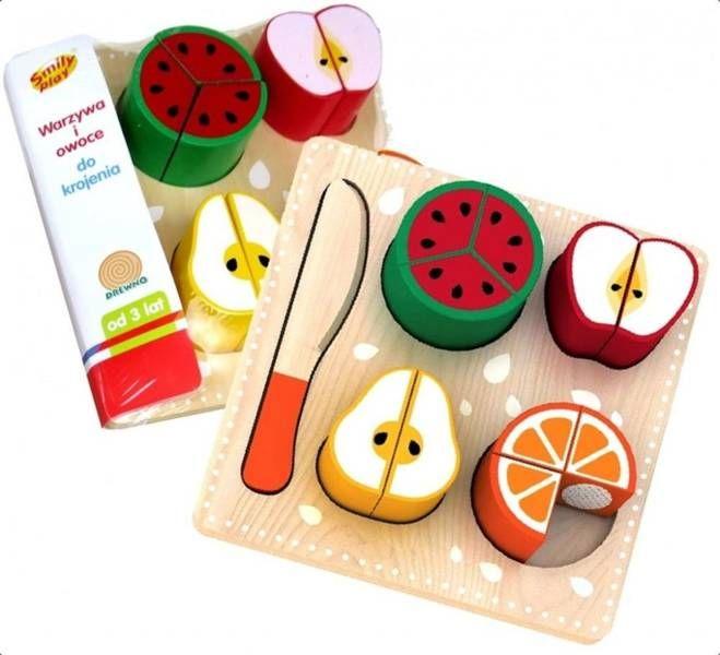 Warzywa i owoce do krojenia - Smily Play