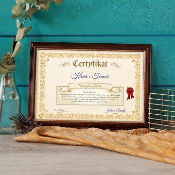 Certyfikat - Rocznica Ślubu Rodziców