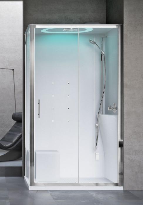 Novellini Eon kabina prostokątna z hydromasażem 120x90 prawa EON2P290DM1-1AK