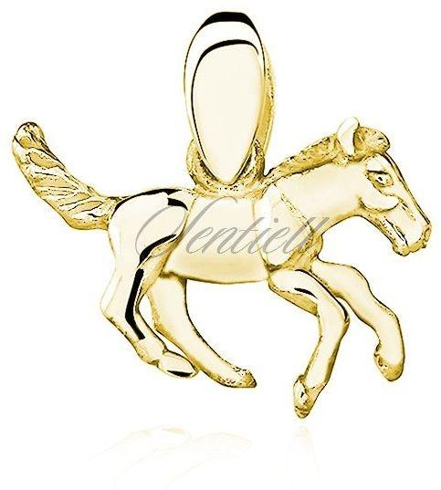 Srebrna pozłacana zawieszka pr.925 koń / konik