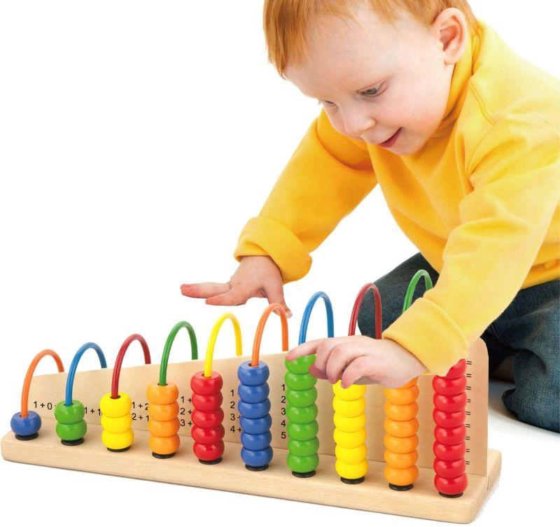 Viga Toys Edukacyjne Liczydło drewniane do Liczenia Szkolne LK