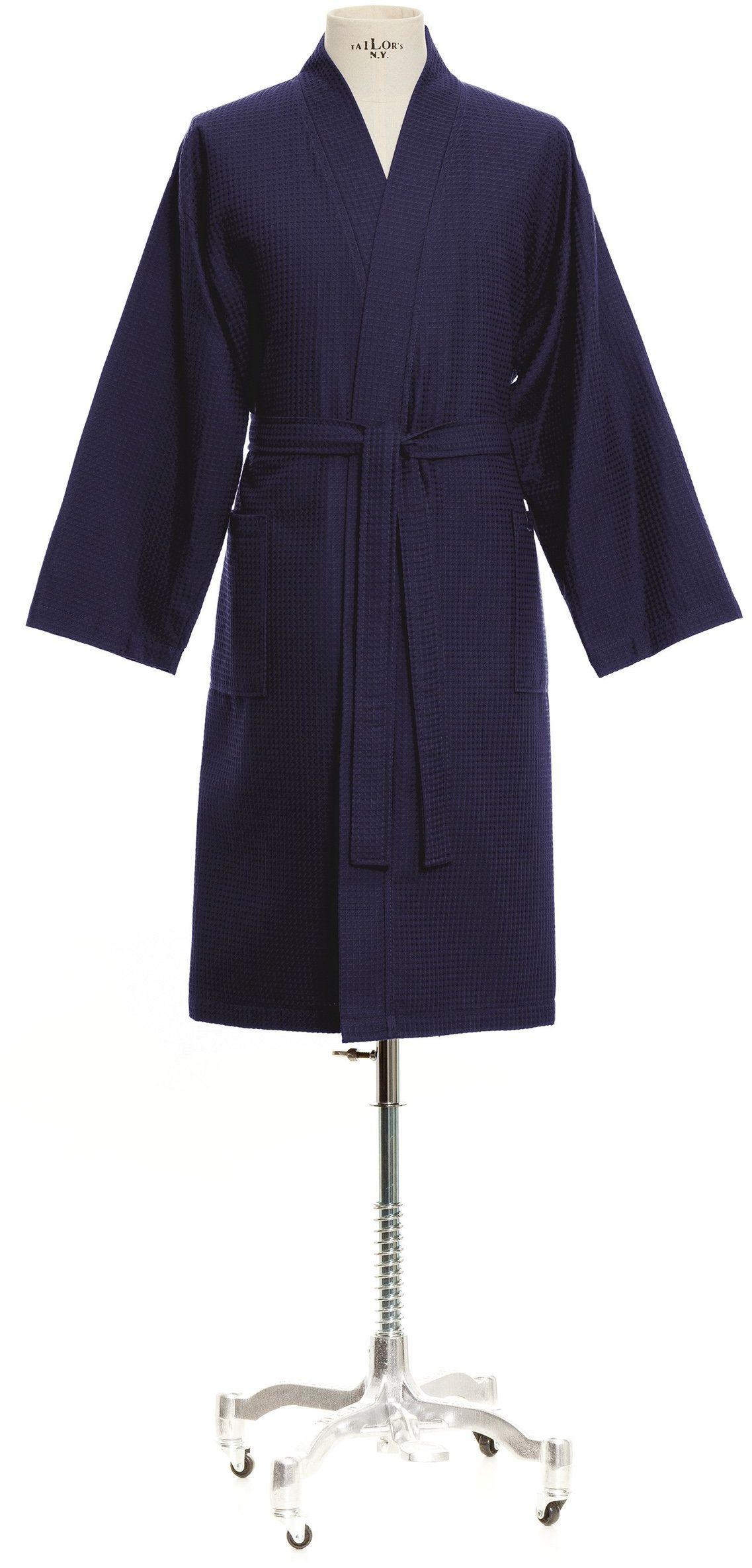 Möve Homewear kimono pika waflowa w rozm. S ze 100% bawełny, głęboka sea