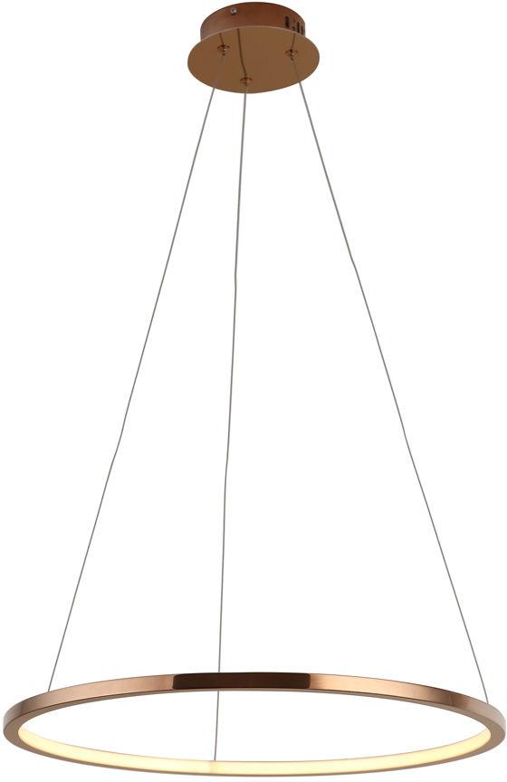 Lampa wisząca Queen I P0243 MAXlight miedziana okrągła oprawa