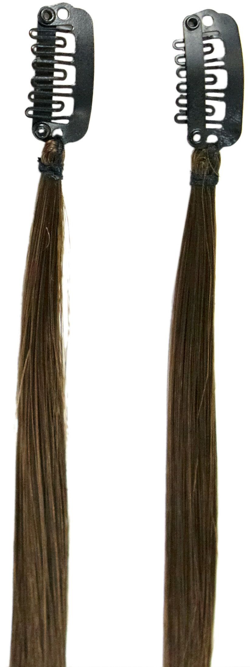 Love Hair Extensions Twinpack Clip-In-pasemka kolor 4  kasztanowy brązowy  41 cm, 1 opakowanie (1 x 1 sztuka)