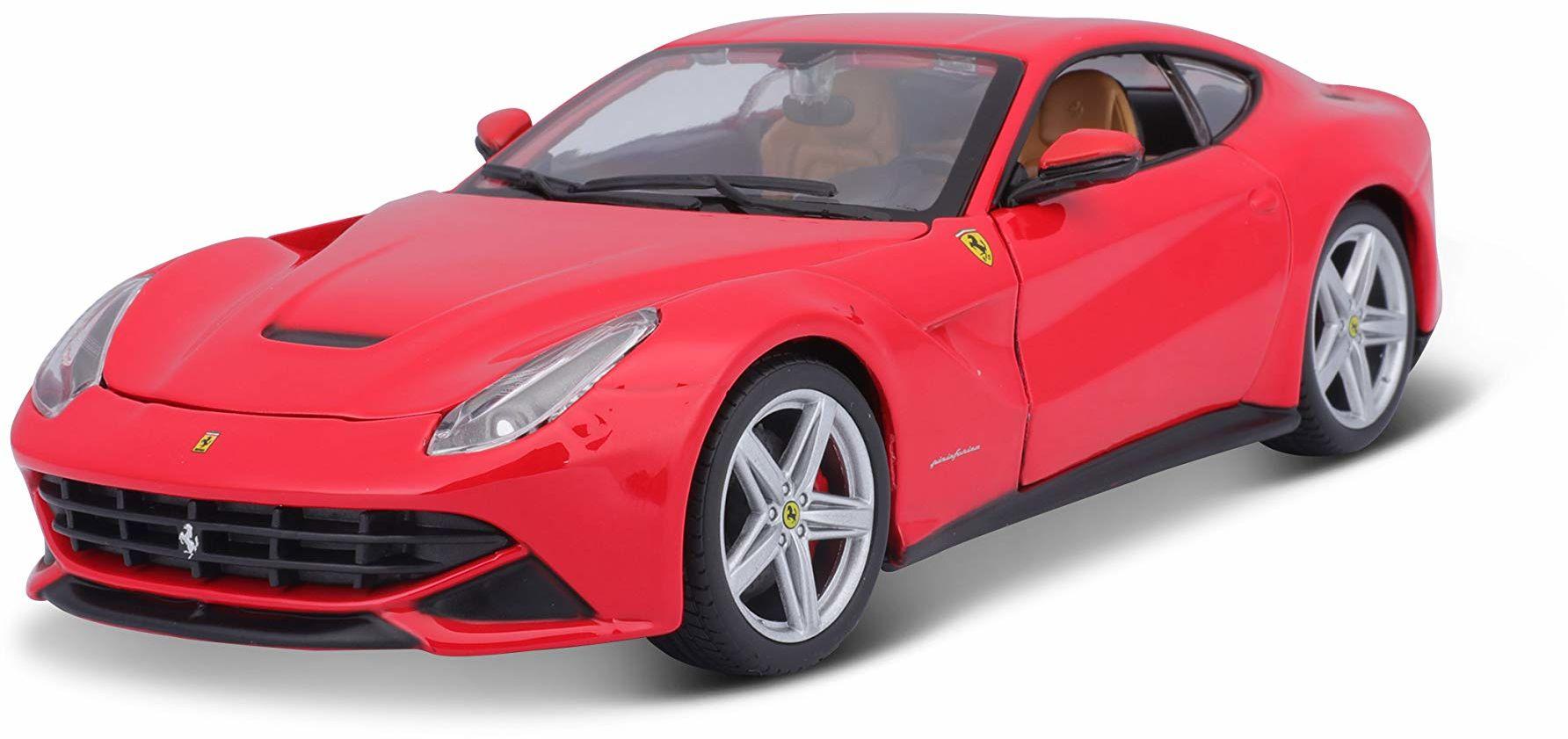 Bburago 26007R - Ferrari F12 Berlinetta (asortyment czerwonych i żółtych)