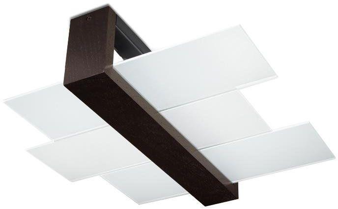 Plafon FENIKS 2 lampa sufitowa drewno Wenge 2x60W, SL.0074