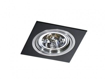 Oczko stropowe Siro 1 AZ0769 AZzardo kwadratowa oprawa w kolorze czarnym