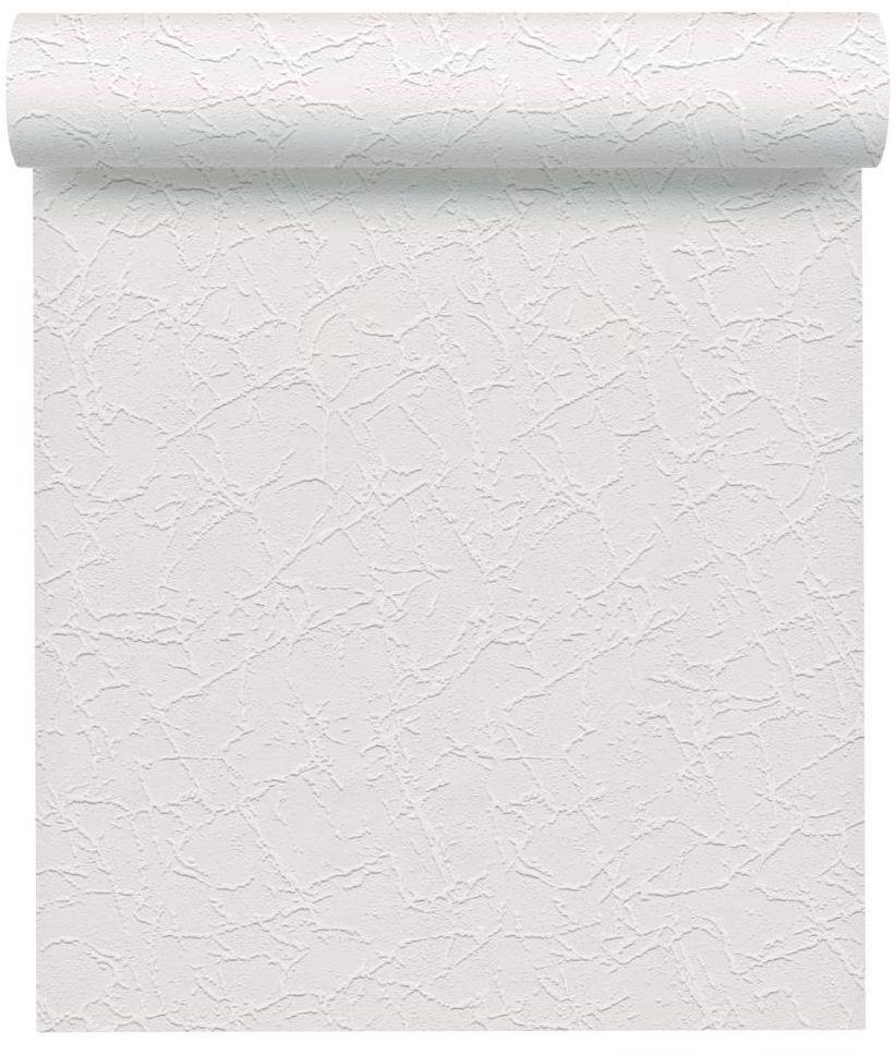 Tapeta strukturalna biała winylowa na flizelinie