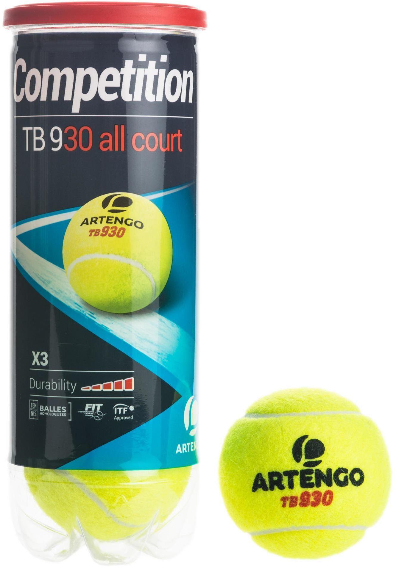 Piłka do tenisa Speed Artengo TB930 *3 żółta
