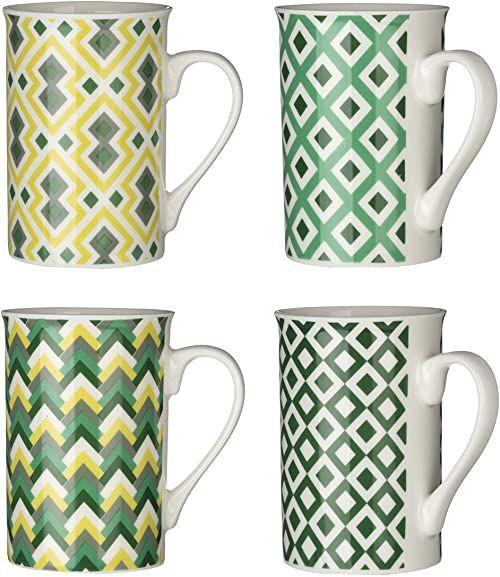 Premier zestaw 4 kubków Austin, 270 ml, zielony, żółty, biały, porcelana