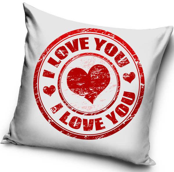Poduszka Dekoracyjna Walentynki I Love You Heart 40x40 cm Zestaw