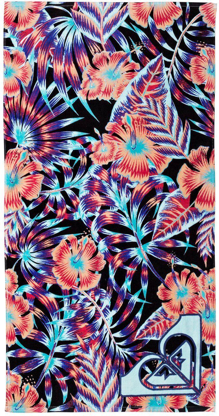 ręcznik dziecięcy ROXY PRETTY SIMPLE YOUTH Anthracite Tropical Dream - KVJ9