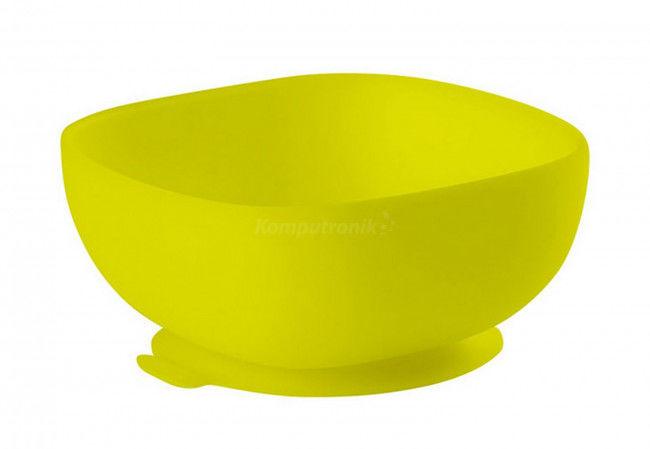 Beaba - Silikonowa Miseczka z Przyssawką Yellow