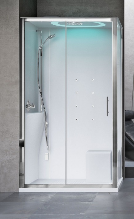 Novellini Eon kabina prostokątna z hydromasażem 120x90 lewa EON2P290SM1-1AK