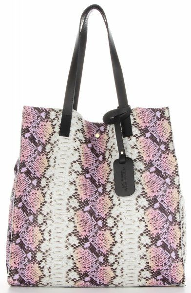 Torebki Skórzane ShopperBag z kosmetyczką firmy VITTORIA GOTTI Różowa (kolory)
