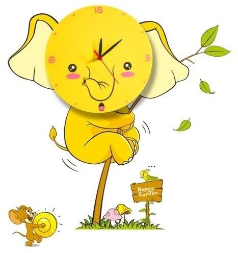 Lampka dziecięca ELEPHANT LED CLOCK 0,6W LED
