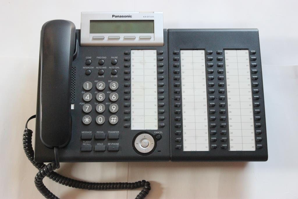 Panasonic KX-DT333X - telefon systemowy i konsola KX- DT390X - używane