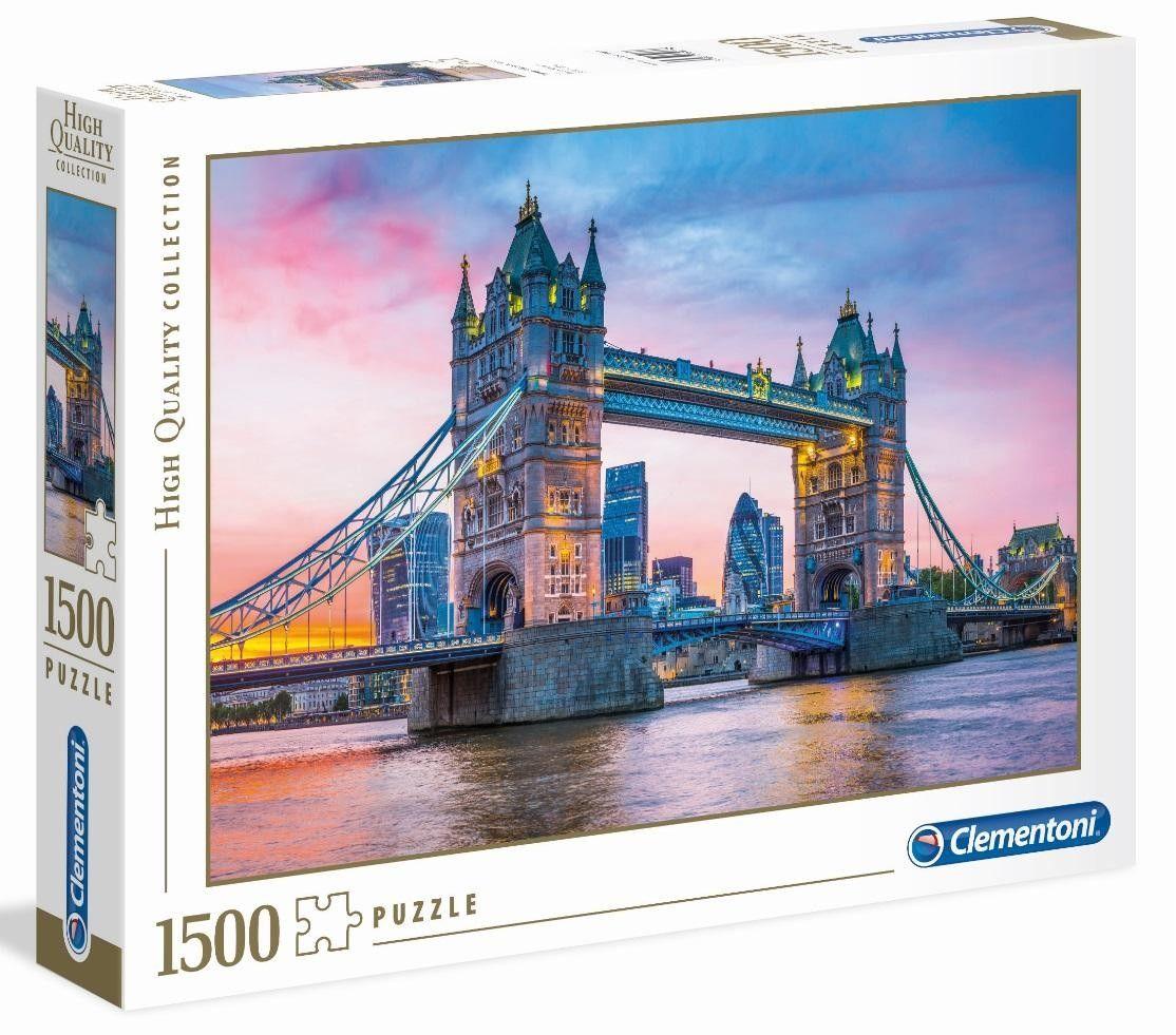 Clementoni Puzzle HQ 1500 Elementów Tower Bridge Sunset Clementoni 5674-uniw