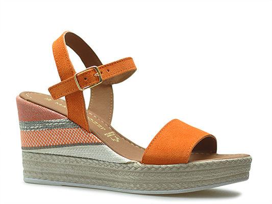 Sandały Marco Tozzi 2-28347-22 Pomarańczowe zamsz