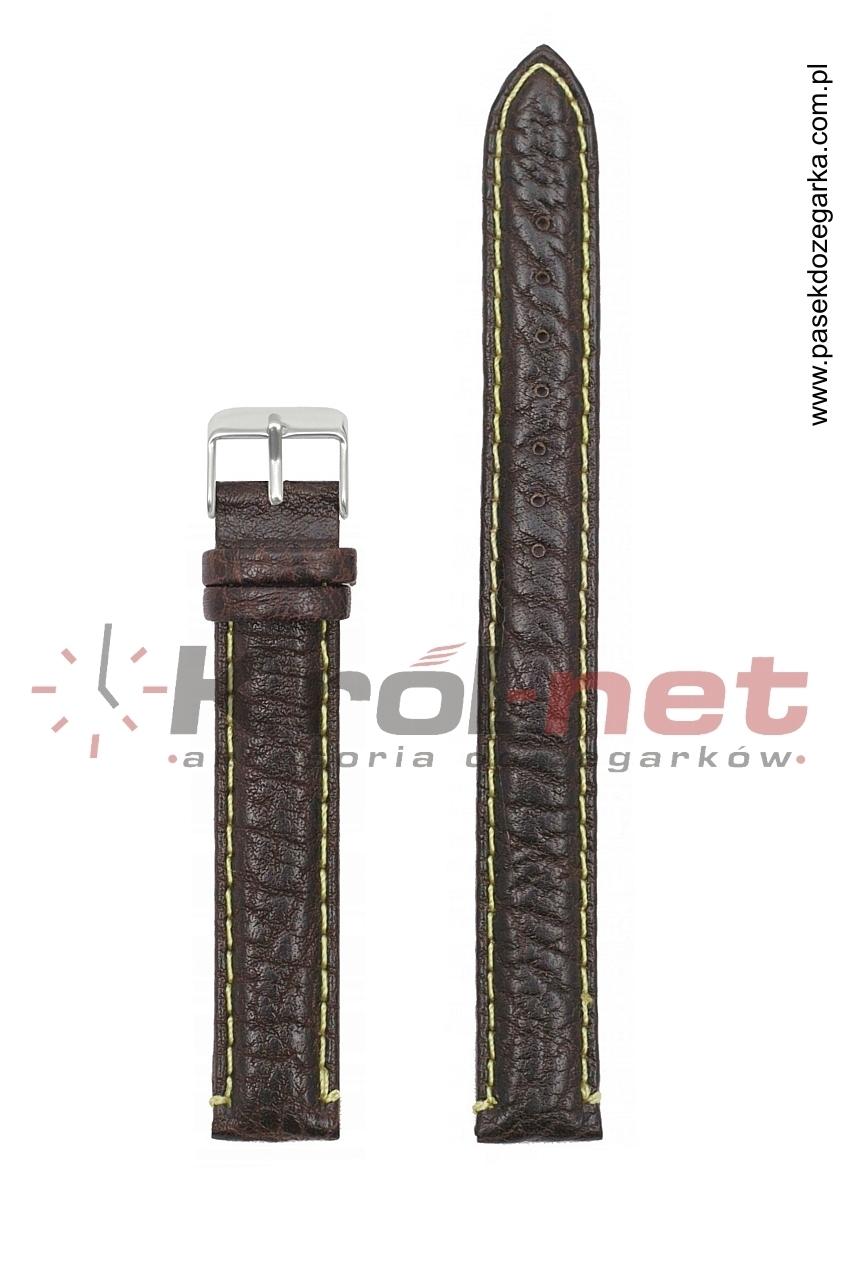 Pasek 206EL/02/14 - brązowy, long