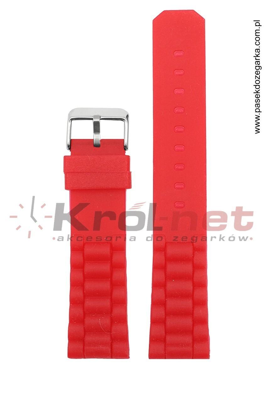 Pasek 252/06/20 - czerwony, silikonowy