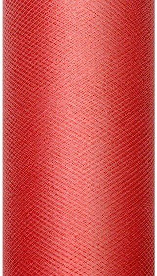 Tiul dekoracyjny czerwony 15cm x 9m 1 rolka TIU15-007