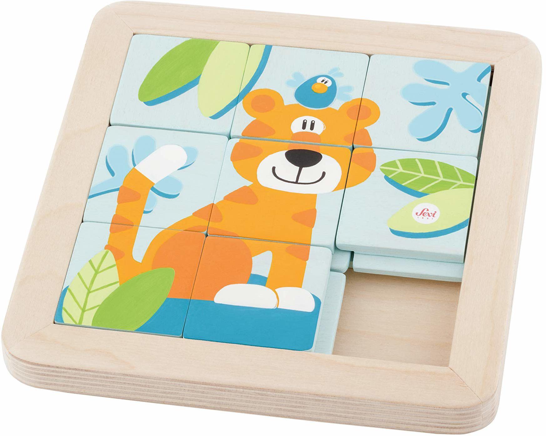 Trudi 83081 Sevi 83081 puzzle przesuwne cm 18x18x2, wielokolorowy