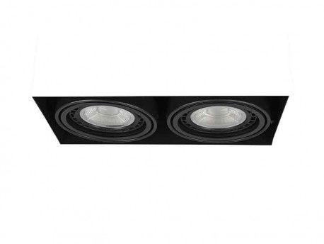 Oczko stropowe Nova 2 Gips AZ2935 AZzardo czarna oprawa w nowoczesnym stylu