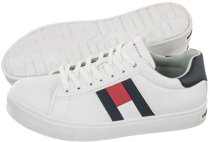 Sneakersy Tommy Hilfiger Low Cut Lace-Up Sneaker T3B4-30921-0900 X336 White/Blue (TH203-a)