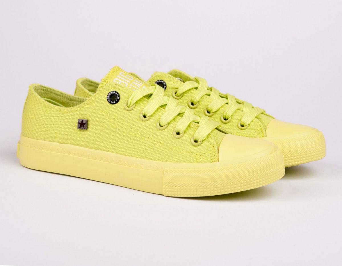 Trampki damskie żółte BIG STAR AA274012
