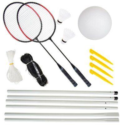 Zestaw do siatkówki plażowej i badmintona ENERO 1036359 DARMOWY TRANSPORT!