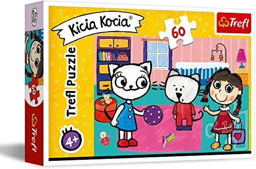 Trefl Kicia Kocia z Przyjaciółmi Puzzle 60 Elementów o Wysokiej Jakości Nadruku dla Dzieci od 4 lat