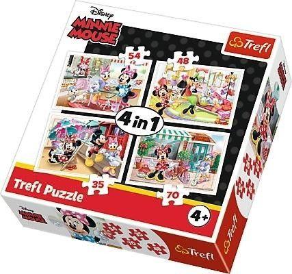 Puzzle 4w1 Myszka Miki Minnie z Przyjaciółmi Trefl Disney 35/48/54/70 el