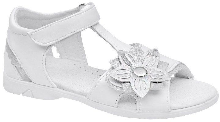 Sandałki dla dziewczynki KORNECKI 4523 Białe Sandały