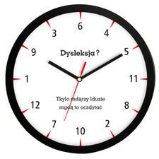 Zegar ścienny solid dysleksja?