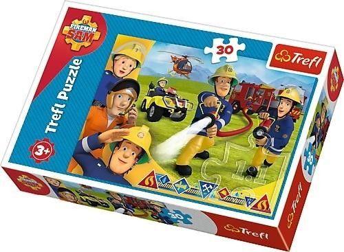 Puzzle 30 elementów Strażak Sam Gotów by Pomagać Trefl