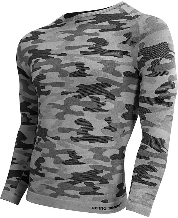 Koszulka termoaktywna Sesto Senso Thermo Active Urban Camo D/R (popiel)