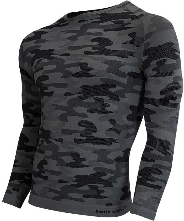 Koszulka termoaktywna Sesto Senso Thermo Active Dark Camo D/R (grafit)