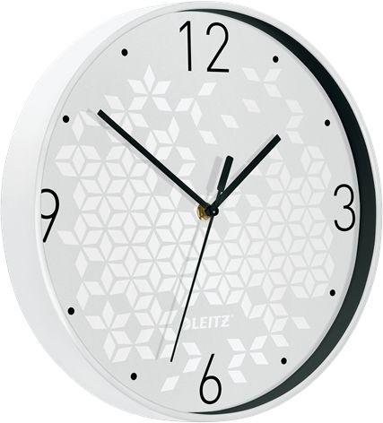 Cichy zegar ścienny Leitz WOW BIAŁY średnica 29 cm